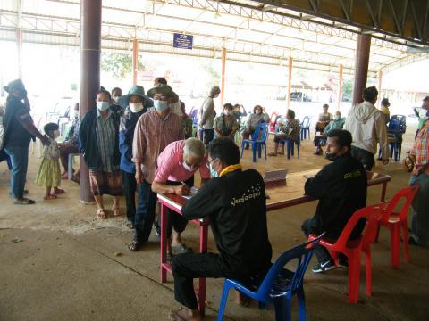 ประชุมประชาคม เพื่อสำรวจความคิดเห็นของประชาชนในการขออนุญาตก่อสร้